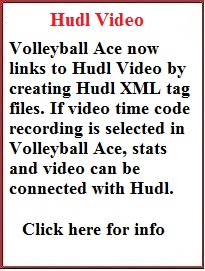 Volleyball Ace now exports time codes to Hudl video
